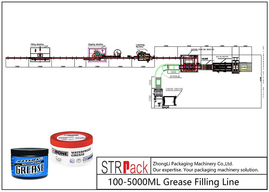 Автоматична лінія для заповнення жиру 100ML-5L