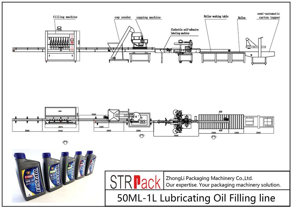 Автоматична лінія для заповнення масляного масла 50ML-1L