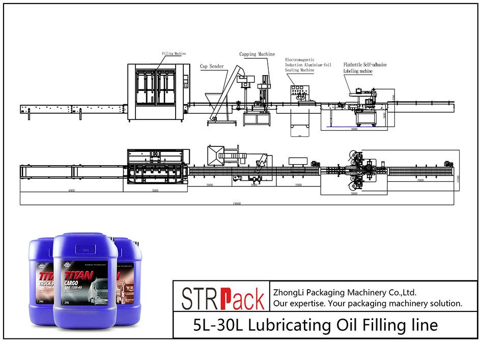 Автоматична лінія для заливки мастила 5L-30L