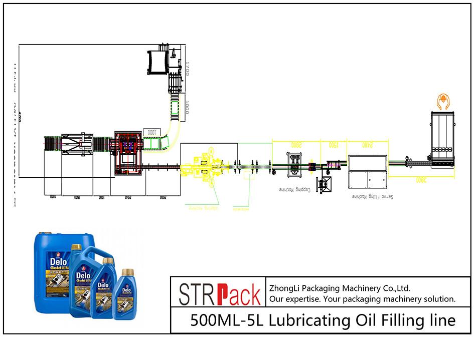 Автоматична лінія для заповнення масляного масла 500ML-5L
