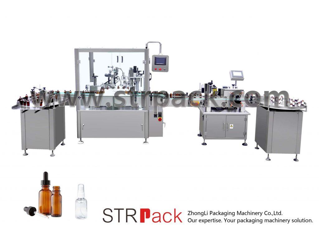 Автоматична машина для заповнення та укупорки пляшок крапельниці