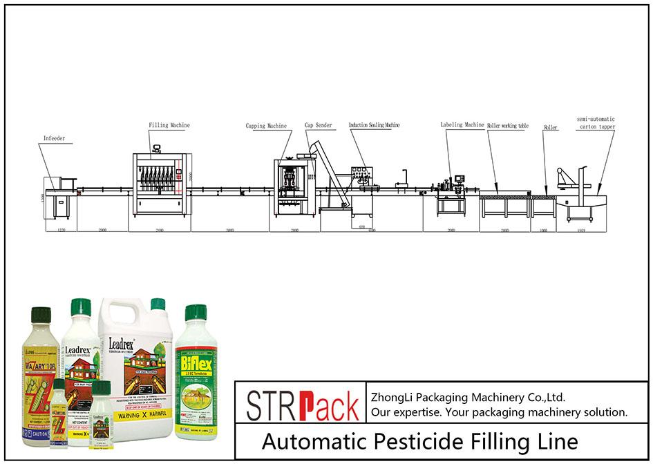 Автоматична лінія для заповнення пестицидами